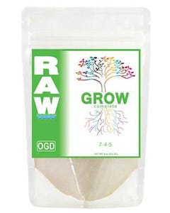 RAW Grow All-In-One Nutrient  7-4-5  -- 8 oz