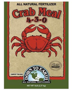 Down To Earth - Organic Crab Meal (4-3-0)