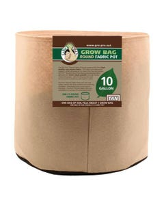 Gro Pro Premium Round Fabric Pot - Tan - 10 Gal