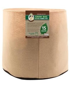Gro Pro Premium Round Fabric Pot - Tan - 15 Gal