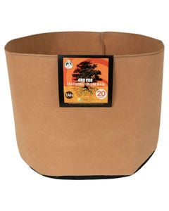Gro Pro Premium Round Fabric Pot - Tan - 20 Gal