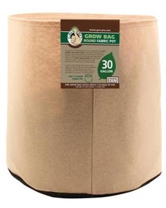 Gro Pro Premium Round Fabric Pot - Tan - 30 Gal