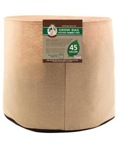Gro Pro Premium Round Fabric Pot - Tan - 45 Gal