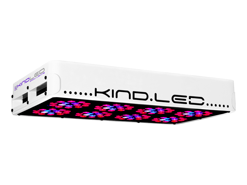 Kind LED K3 L450 Grow Light Exclusively from Growers House, all Kind LED L450's come with a free Method Seven Operator LED Grow Room glasses. Simply check the box when purchasing. Limit one per customer. The K3 series LED grow lights are comprised of high powered 3 Watt Light Emitting Diodes featuring a proprietary intensified spectrum designed for flowering large yields. This revolutionary series of LED grow lights will produce the biggest and best yields, while consuming approximately half the electricity and producing virtually no heat. Your Kind LED Grow Light will cultivate record breaking yields, both in quantity and quality, while running quieter, cooler, and more efficiently than any other grow light. Guaranteed. A Little Kindness Goes A Long Way. View the 300-400w Alternative Lighting Comparison on our blog Kind LED grow lights come with a proprietary spectrum optimized to yield quality and quantity out of your plants. The spectrum is focused on the photosynthetic peaks for maximum efficiency, leaving no light wasted as in traditional HPS and MH lights. Kind LED grow lights in the 300, 450, and 600 models are great to use alongside other lighting technology such as HPS and MH, or use them as your sole light source.