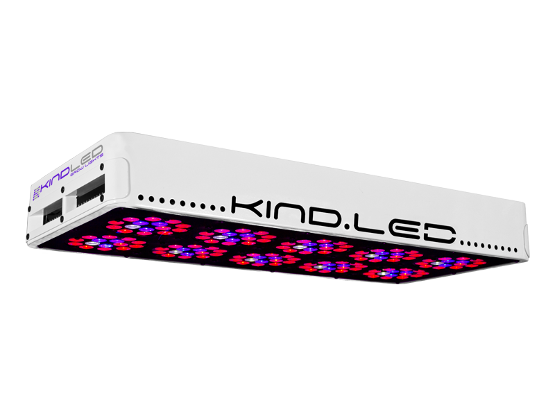Kind LED K3 L600 Grow Light Exclusively from Growers House, all Kind LED L600's come with a free Method Seven Operator LED Grow Room glasses. Simply check the box when purchasing. Limit one per customer. The K3 series LED grow lights are comprised of high powered 3 Watt Light Emitting Diodes featuring a proprietary intensified spectrum designed for flowering large yields. This revolutionary series of LED grow lights will produce the biggest and best yields, while consuming approximately half the electricity and producing virtually no heat. Your Kind LED Grow Light will cultivate record breaking yields, both in quantity and quality, while running quieter, cooler, and more efficiently than any other grow light. Guaranteed. A Little Kindness Goes A Long Way. View the 300-400w Alternative Lighting Comparison on our blog Kind LED grow lights come with a proprietary spectrum optimized to yield quality and quantity out of your plants. The spectrum is focused on the photosynthetic peaks for maximum efficiency, leaving no light wasted as in traditional HPS and MH lights. Kind LED grow lights in the 300, 450, and 600 models are great to use alongside other lighting technology such as HPS and MH, or use them as your sole light source.