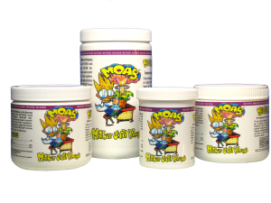 Mad Farmer Mother Of All Bloom 100g M.O.A.B. supplies your flowering plants with extreme levels of food grade phosphorus and potassium. M.O.A.B. also contains reagent grade B-1 to reduce shock and assist in growth. The Mad Farmer's M.O.A.B. (Mother of All Blooms) is a bloom enhancer and ripening agent. With a 0-52-32 NPK, M.O.A.B. supplies your plants with extreme levels of phosphorus and potassium. The potent formula is designed to increase the size and density of your harvest. It also stimulates the production of essential oils, aromas and flavors of your fruits and flowers. M.O.A.B. can also be used during the first week of flowering to jump start the bloom cycle. Directions For Use M.O.A.B. can be used during the first week of bloom to help induce flowering. Add M.O.A.B. during the last two to three weeks of flowering for added levels of phosphorous and potassium. Combine 1-2 teaspoons of M.O.A.B. per 5 gallons of feed water. The amount of base nutrients may need to be reduced by as much as 50% when using M.O.A.B., over feeding may burn plants.