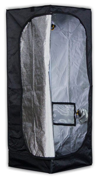 Mammoth Tent - Pro 60 - 2 x 2 x 5.3 ft Mammoth Pro 60 - 2ft x 2ft x 5.3ft - Grow Tent The team at Mammoth used to manufacture grow tents and darkroom products for the Secret Jardin brand. Secret Jardin moved to another manufacturer and now Mammoth can bring driectly to the market their Darkroom and Darkstreet tents (Now Pro and Classic). The same high quality materials and craftsmanship at a great new price. Quick and easy to assemble - no tools required 210D Mylar Tough fabric lined with 95% reflective mylar Heavy-duty Steel frame tubes secured with specially engineered corner segments High-quality zips for a totally light-proof unit Hanging tubes with 66 pounds weight capacity for lights, carbon filters, duct fans, etc. Washable at 104 F degrees for quick and easy cleaning Removable waterproof water tray Contains: 8 x upright poles, 8 x horizontal bars, 8 x corner pieces, 3 x hanging rails, 1 x mylar-lined fabric outer, 1 x waterproof drip-tray, 2 x securing straps - see the assembly guide pdf for illustration How the Mammoth Pro 60 Works Mammoth Pro Grow Tents are premium products minus the premium price-tag - light-years ahead of the countless low-grade alternatives on the market. They're an intensively researched, tried-and-tested product, designed to provide you with the features required to create the perfect, enclosed growing environment. The team at Mammoth have thought of everything: there are built-in access points to accommodate equipment for every aspect of your indoor garden. The tent's framework is constructed using high-strength steel poles that are secured into position using new, specially engineered polypropylene corner segments - now three times stronger than those of other grow tents. It's also manufactured using heavy-duty fabric. Quality material is crucial to eliminating light leaks and keeping your grow protected. Photosynthesis is the lifeblood of your plants; for this reason, they are very finely attuned to variations in light cycles. Chea