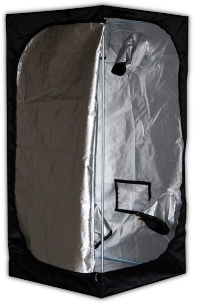 Mammoth Tent - Pro 90 - 3 x 3 x 6ft Mammoth Pro 90 - 3ft x 3ft x 6ft - Grow Tent The team at Mammoth used to manufacture grow tents and darkroom products for the Secret Jardin brand. Secret Jardin moved to another manufacturer and now Mammoth can bring driectly to the market their Darkroom and Darkstreet tents (Now Pro and Classic). The same high quality materials and craftsmanship at a great new price. Quick and easy to assemble - no tools required 210D Mylar Tough fabric lined with 95% reflective mylar Heavy-duty Steel frame tubes secured with specially engineered corner segments High-quality zips for a totally light-proof unit Hanging tubes with 66 pounds weight capacity for lights, carbon filters, duct fans, etc. Washable at 104 F degrees for quick and easy cleaning Removable waterproof water tray How the Mammoth Pro 90 Works Mammoth Pro Grow Tents are premium products minus the premium price-tag - light-years ahead of the countless low-grade alternatives on the market. They're an intensively researched, tried-and-tested product, designed to provide you with the features required to create the perfect, enclosed growing environment. The team at Mammoth have thought of everything: there are built-in access points to accommodate equipment for every aspect of your indoor garden. The tent's framework is constructed using high-strength steel poles that are secured into position using new, specially engineered polypropylene corner segments - now three times stronger than those of other grow tents. It's also manufactured using heavy-duty fabric. Quality material is crucial to eliminating light leaks and keeping your grow protected. Photosynthesis is the lifeblood of your plants; for this reason, they are very finely attuned to variations in light cycles. Cheap tents with weak spots that cause light-leaks can lead to disastrous results. That's why you need a grow tent with the prestige of the Mammoth Pro Grow Tents: when the zips are closed, this tent forms a properly se
