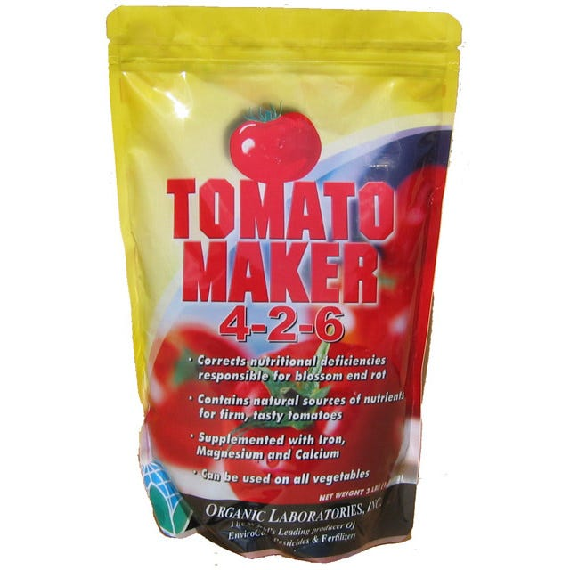Tomato Maker Fertilizer & Blossom End Rot Prevention Organic Tomato Fertilizer, Manure, Compost, Vegetable Soil,  Rake, Cultivator, Hoe, Garden Fork