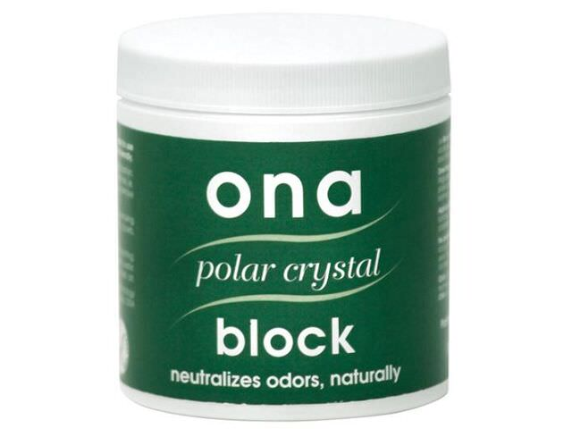 Ona Block Polar Crystal -- 6 oz The ONA Block Polar Crystal is ideal for small areas such as closets, foyers, attics, cars, gym bags, boats, kitchens, garbage cans, cupboards or vents. Simply remove the cap, or punch several small holes in the cap and place in desired location. The ONA Block measures 3  x 3  and will fit in most places. The ONA Block will release its powerful odor neutralizing agent and keep the location free from undesirable odors. Replace as necessary.