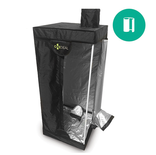OneDeal Grow Tent 2 x 2 x 4.6 ft (24 x 24 x 55 in) Everything you ever wanted in a grow tent and more! DL Wholesale is proud to bring to you OneDeal grow tents with all the features you have been looking for, at a price you will love. Design, construction, materials, and value were all at the heart of this new collection of tents, and we can't wait for our customers to start enjoying them today! These tents are designed based on features of the top brands in the market, and now include even more to enjoy. Reinforced plastic corners for higher durability, unique intake/outlet ports allowing for power cord access, lightweight for user friendliness, and customized silver coating and secret stitching designs for increased light proof ability.