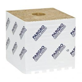 """Grodan ParGro Quick Drain Biggie 6 inch x 6 inch x 6 inch Block Note: If you're interested in large quantities, please contact us for a custom quote at 855-289-1441 or staff@growershouse.com. Grodan Pargro line has been modified to be the driest value-priced Rockwool on the market. Pargro is the leader among affordable horticultural Rockwool. There are other brands that offer the same low price, but you end up sacrificing quality. Not with Pargro! Since it is made right in the Grodan factory, you can be assured of a high quality product at a great price. Pargro Quick Drain™ (QD) blocks are up to 14% drier than Cultilene Comfort blocks. Pargro QD slabs are up to 10% drier than our previous Neptune slabs. Jumbo is a particularly good choice when you want to use a big block in an ebb and flow system. If you want a drier top, then opt for the Biggie in your system, since capillary movement will generally not reach above 4"""" in a block on most flood tables. Jumbo is a particular good choice when you want to use a big block in an ebb and flow system. If you want a drier top, then opt for the Biggie in your system, since capillary movement will generally not reach above 4"""" in a block on most flood tables. Grodan Pargro QD Biggie's are quality at a smart price. Pargro 6  x 6  x 6  Biggie rockwool blocks are the driest value-priced rockwool on the market. Pargro 6  blocks are cheap in price but not in strength and uniformity. Better grooves, better drainage, less risk of root rot. Uniform fiber structure ensures optimum nutrient and pH control. Produced at the Grodan factory, but is a little firmer than Grodan. Used worldwide by commercial growers for over 14 years. Why did the GRODAN company create Pargro Quick Drain? We made Pargro because we recognized the need for an affordably priced, quality rockwool with rapid drainage. There are lower-priced brands in the market that do not live up to what they promise. Most claim a uniform product that drains well but does not fall a"""