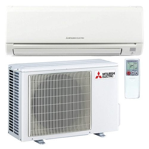 Mitsubishi - 9k BTU Cooling + Heating - M-Series Wall Mounted Air Conditioning System - 24.6 SEER For over 50 years, Mitsubishi has remained at the forefront of the mini split industry thanks to their dedication to providing efficient, user-friendly comfort solutions. Mitsubishi is committed to achieving total customer satisfaction and year after year they do just that. The MZ-GL09NA is backed by a 5 year parts and 7 year compressor warranty to show you they stand by their product. With an included wireless remote controller, this system is the perfect combination of convenience and comfort for any heating or cooling application. Advanced Filtration System The MSZ-GL09NA-U1 combines a hybrid catechin deodorizing filter with an enzyme-based filter for managing allergens. The anti-allergy filter not only captures the offending particles, it also breaks them down, cleaning the air as it is conditioned. Hot-Start Mitsubishi's hot start technology prevents cold drafts by delaying fan operation until the heat exchanger has warmed up. Econo Cool Mode By slowly adjusting the cooling set point and swinging the horizontal vanes, the MSZ-GL09NA-U1 can improve the efficiency of cooling operations without compromising the comfort provided. Dehumidification When the indoor unit is run in dry mode, the coil's temperature stays just below the dew point of the return air, removing unwanted moisture. This improves comfort and reduces the chance of mold growth and other property damage in the conditioned space. Multiple Vane Control Options Auto mode selects the best vane position based on operating mode, and the swing modes cycle through all positions for maximum coverage. When wide mode is activated, fan speed increases beyond the current setting. Kumo Cloud Compatible Control every zone in your home from the palm of your hand. The Kumo Cloud App allows easy access and control with any smartphone or internet browser. Precision Temperature Control Technology The outdoor condenser is 