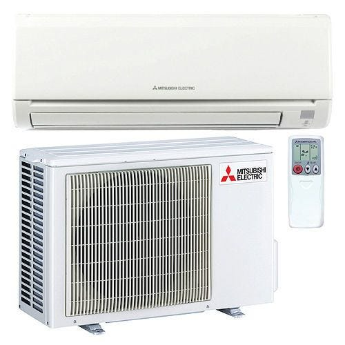 Mitsubishi - 15k BTU Cooling + Heating - M-Series Wall Mounted Air Conditioning System - 21.6 SEER For over 50 years, Mitsubishi has remained at the forefront of the mini split industry thanks to their dedication to providing efficient, user-friendly comfort solutions. Mitsubishi is committed to achieving total customer satisfaction and year after year they do just that. The MZ-GL15NA is backed by a 5 year parts and 7 year compressor warranty to show you they stand by their product. With an included wireless remote controller, this system is the perfect combination of convenience and comfort for any heating or cooling application. Advanced Filtration System The MSZ-GL15NA-U1 combines a hybrid catechin deodorizing filter with an enzyme-based filter for managing allergens. The anti-allergy filter not only captures the offending particles, it also breaks them down, cleaning the air as it is conditioned. Hot-Start Mitsubishi's hot start technology prevents cold drafts by delaying fan operation until the heat exchanger has warmed up. Econo Cool Mode By slowly adjusting the cooling set point and swinging the horizontal vanes, the MSZ-GL15NA-U1 can improve the efficiency of cooling operations without compromising the comfort provided. Dehumidification When the indoor unit is run in dry mode, the coil's temperature stays just below the dew point of the return air, removing unwanted moisture. This improves comfort and reduces the chance of mold growth and other property damage in the conditioned space. Multiple Vane Control Options Auto mode selects the best vane position based on operating mode, and the swing modes cycle through all positions for maximum coverage. When wide mode is activated, fan speed increases beyond the current setting. Kumo Cloud Compatible Control every zone in your home from the palm of your hand. The Kumo Cloud App allows easy access and control with any smartphone or internet browser. Precision Temperature Control Technology The outdoor condenser is