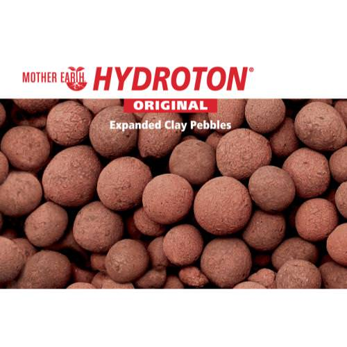 Mother Earth Hydroton Original 50 L The original Hydroton® brand expanded clay is a unique, lightweight expanded clay aggregate made in Germany. This natural clay is mined, formed into pellets, then kiln fired at high temperatures to cause the clay to expand into tough, lightweight balls. Clay naturally has balanced capillary action, with an ideal surface structure. Hydroton® brand expanded clay is semi-porous and generally does not float like other products can. For best results, rinse all expanded clay before use. It is reusable as long as it is thoroughly cleaned between uses.