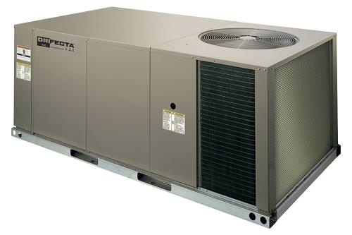 Ideal-Air DriFecta 4-Ton All In One Commercial Electric/Electric Air Conditioner/Dehumidifier 208-230V *DISCONTINUED* This item has been discontinued, Please try our selection of Air Conditioners for an alternative. DriFecta All In One AC/Dehu units are an all in one unit which eliminates the need for an indoor A/C and a standalone dehumidifier . The Ideal-Air DriFecta 4-Ton Packaged Commercial R-410A Electric/Electric Air Conditioner, 15kW Heat, 208/230V 3 Ph 60 Hz is a commercial-grade air conditioner that allows for independent humidity control. Set temperature and humidity independently of one another. Even if the Ideal-Air DriFecta reaches the set point for temperature, the dehumidifier will continue to operate until the set point for humidity level is reached. The Ideal-Air DriFecta is a commercial packaged, 13.0 SEER, R-410A Air Conditioner with with heat options and a standard dehumidification feature. The 1.5 HP (Horsepower) belt-drive blower and 1-inch throwaway filters are included. All DriFecta units are 208/230V 3Ph 60Hz and come with a 1-year parts warranty. There is a 5-year limited compressor warranty when installed by a certified HVAC contractor. All units require a certified HVAC-Professional for proper startup Ideal-Air DriFecta units are designed for roof mounting on a curb (14-inch curb sold separately). Every DriFecta Air Conditioner is completely charged, wired, and only 1 electrical circuit is required. All DriFectra R-410A Air Conditioners are piped and tested at the factory to ensure their quality. All models of DriFecta are convertible between bottom and horizontal duct connections. Field-installed low-ambient cooling parts 700067 and 700068 are required for using the cooler when outdoor temperatures are below 0 degrees Fahrenheit. Factory-installed phase monitors protect the DriFecta motor and PCB from expensive electrical damage. Features Separate Temperature/Humidity Controls Electric/Electric Available in units from 3 tons all the way 