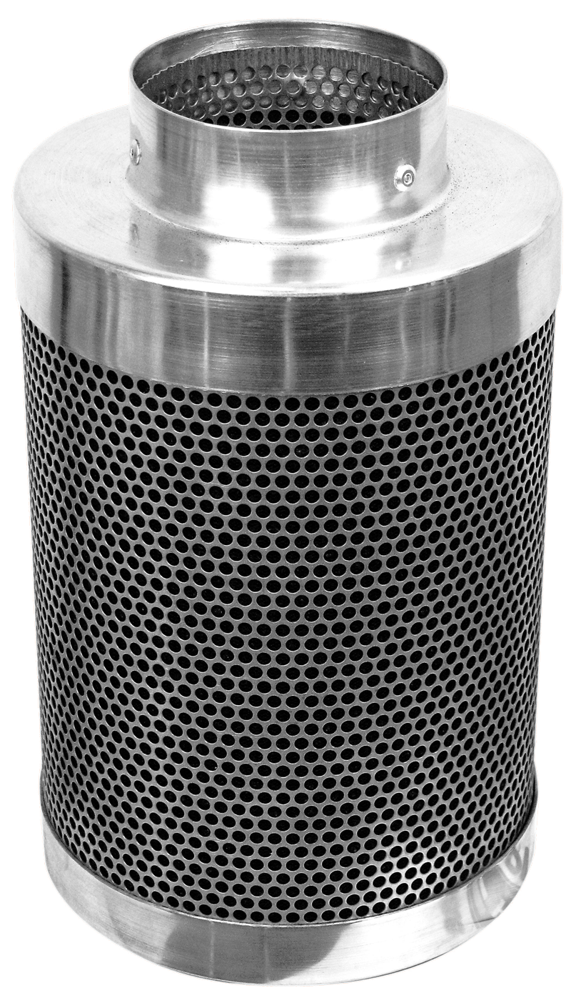 "Phresh Filter 4 inch x 8 inch 150 CFM Phresh filters are state of the art carbon filters that practically scour the air to make it clean of dust, foreign particulates, organic compounds and odors. Compared to their competitors, Phresh carbon filters are half the weight, last twice as long, have the largest selection of sized to choose from, and are very competitively priced. Phresh filters rely on the unique properties of high grade RC-48 activated carbon, found exclusively in Western Australia. These filters are currently being used in research labs, plant breeding, tissue culture, indoor gardening, backyard and commercial greenhouses. Phresh carbon filters are professional-grade system designed to meet the demands of serious hobbyists and commercial applications. Use our convenient Size Calculator to determine which Phresh Filter is right for you! Phresh Size Calculator. Aluminum tops and bases for reduced weight. Half the weight of other filters. 46mm (1.8 ) RC-48 activated, certified virgin carbon bed. Machine packed carbon means more carbon and less movement. Cone shaped internal base for optimum air flow. Sealed, bagged, boxed and labeled directly after being manufactured for optimum life span, handling and presentation. 51% open air custom mesh. Unique ""Anti Air Bypass"" System. Large selection of sizes available to fit any application. Flange & pre-filter included. 4  x 8  to 8  x 24  sizes only can be sent via UPS. SKU / Flange Size / Length / CFM 701000 Phresh® Filters 4  x 8  150 701003 Phresh® Filters 4  x 12  200 701005 Phresh® Filters 6  x 16  400 701010 Phresh® Filters 6  x 24  550 701015 Phresh® Filters 8  x 24  750 701018 Phresh® Filters 8  x 39  950 701020 Phresh® Filters 10  x 24  850 701025 Phresh® Filters 10  x 39  1,400 701030 Phresh® Filters 12  x 39  1,700 701035 Phresh® Filters 14  x 39  2,100 701040 Phresh® Filters 14  x 48  2,500 701045 Phresh® Filters 14  x 50  3,800 For more information visit www.phreshfilter.com"