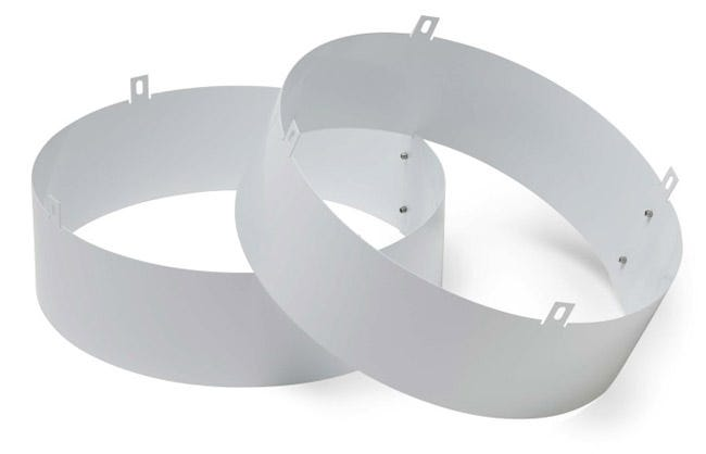 Photograph of Quest Supply Air Duct Collar for Overhead Style Dehumidifier