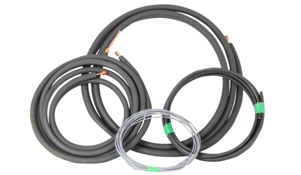 Samsung Mini-Split 12,000 BTU 25ft Lineset *DISCONTINUED* Linesets and Interconnecting Wires for Samsung Max Mini-Split Systems. Kit Includes: 1/4  by 25 ft insulated copper refrigerant line 3/8  x 25 ft insulated copper refrigerant line 14 GA/3 conductor wire x 25 ft 16 GA/2 conductor wire (shielded) x 25 ft.