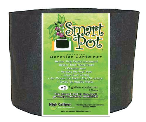 Smart Pots DescriptionThese BPA- and lead-free soft growing containers allow more air to reach the growing medium and roots, improving drainage and keeping the root system from overheating. Plant roots have a natural tendency to grow into soft surfaces like those of the Smart Pot, becoming thick and healthy instead of circling the inside of the pot and becoming root-bound. Smart Pots are aeration containers: They allow the air to prune the plant root structure. Simply remove the containers before transplanting. These pots help plants become established more quickly after transplanting.Why Are Smart Pots Better For Growing?As simple as it seems, a pot is one of the most important components for successful container gardening. For more than 25 years, Smart Pots have consistently outperformed all other growing containers in commercial nurseries and in university testing. The patented Smart Pot is uniquely designed to improve the root structure of your plants, enabling them to grow to their full potential.Smart Pots are better than plastic containersHard-sided plastic containers are relatively inexpensive but are not a very good home for roots. Plastic allows no aeration, conducts and holds heat, and provides inadequate or poor drainage. Even on mildly sunny days, container soil temperatures can easily top 120 degrees, damaging or killing the roots and stressing the plant. The No. 1 killer of potted or container-grown plants, however, is over-watering. Plastic containers with a few bottom drainage holes actually encourage the soil to stay too wet. In contrast, the porous fabric of a Smart Pot allows heat to dissipate and excess water to evaporate. Over-watering is never a problem with a Smart Pot because excess water drains and evaporates from all of the Smart Pot's surfaces, including its walls and bottom. The type of mix used in a Smart Pot is less critical than in hard-sided pots. Because the fabric Smart Pot provides the root ball total aeration and excellent drainage, you can
