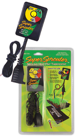 Super Sprouter Heat Mat Thermostat Seed Starting, Seedling, Seedstarting Supplies, Gardening, Seed-Starting, Garden