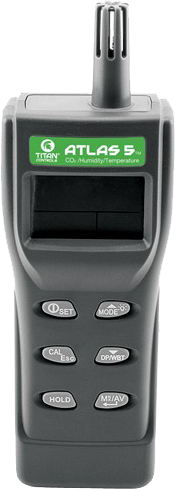 Titan Controls Atlas 5 -- Handheld Temp CO2 and Humidity Monitor