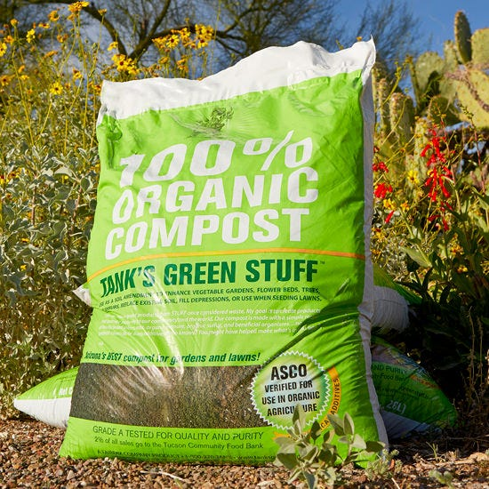 Tank's Green Stuff - 100% Organic Compost - 1 cu ft Organic Tomato Fertilizer, Manure, Compost, Vegetable Soil,  Rake, Cultivator, Hoe, Garden Fork