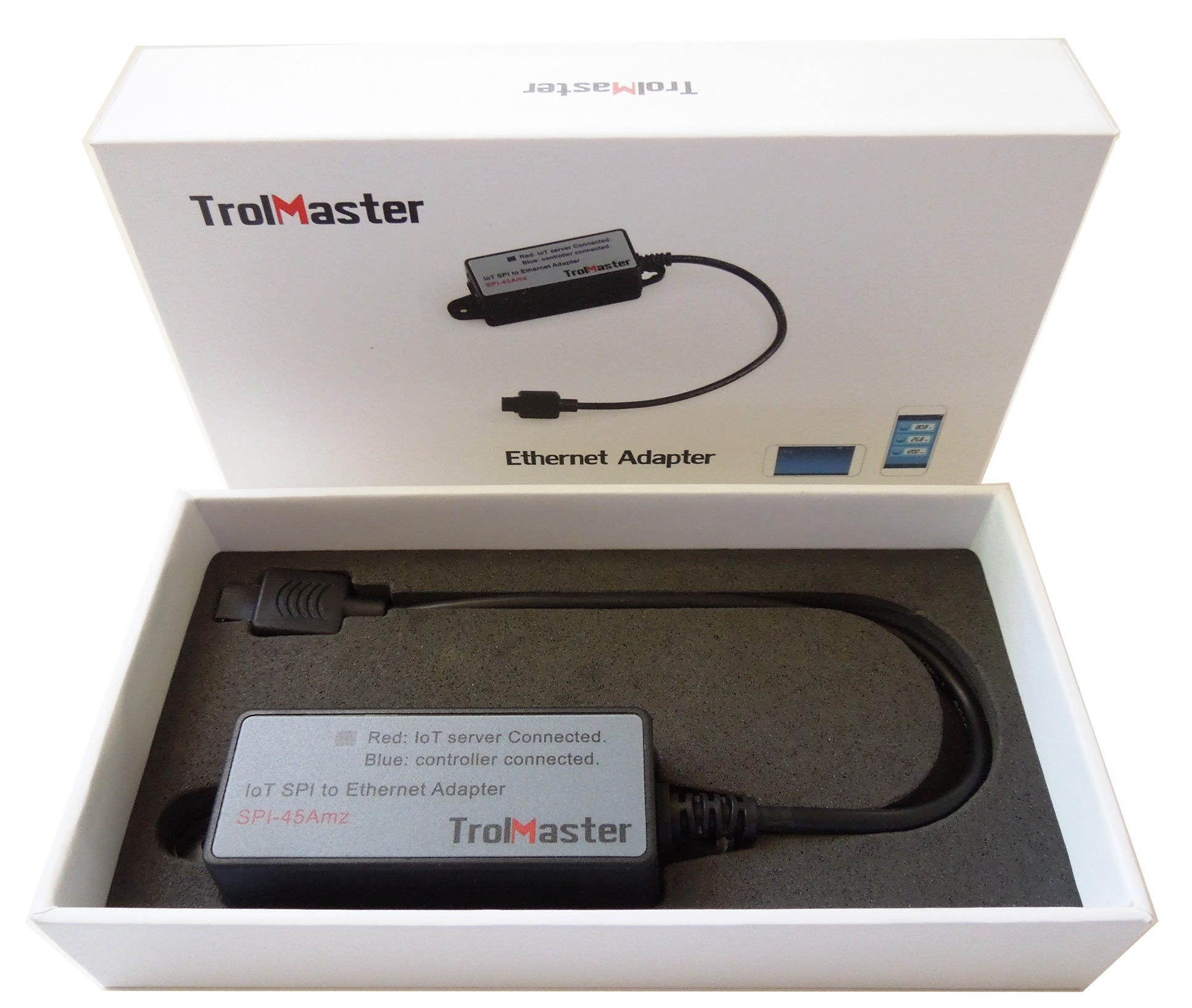 TrolMaster Ethernet Adapter *DISCONTINUED* This item has been discontinued, Please try our selection of Controller Accessories for an alternative. The TrolMaster Ethernet Adapterextends the range of the TrolMaster Hawkeye. It lets you connect to your TrolMaster Hawkeye controller through your Android or iOS phone or tablet. Using the app, you can monitor the environment of your grow room anytime and anywhere and have warnings sent to your phone if the growing environment exceeds your maximum or minimum set points.