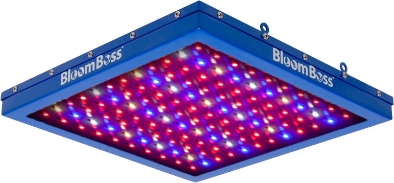 BloomBoss PowerPanel LED Grow Light - TrueSun Spectrum *DISCONTINUED* This item has been discontinued, Please try our selection of LED Lights for an alternative. BloomBoss PowerPanel LED Grow Light - TrueSun Spectrum The BloomBoss PowerPanel LED Grow Light is a great alternative to fluorescent bulbs. It can be used for many applications including propagation of seedlings and clones, supplemental lighting to enhance the light spectrum to increase overall yield, or even completing a small-scale full cycle grow. The BloomBoss PowerPanel LED Grow Light uses only 32 watts of power, runs cool, and operates silently while providing your plants with the optimal light spectrum for both growth and flowering stages. It's heavy duty construction features a customized steel case for increased durability. BloomBoss PowerPanel LED Grow Light Energy Savings Benefits: Lifespan 50,000+ hours No expensive and dangerous bulbs to replace…ever! Compares to one 4 bulb, 2-foot T5 florescent fixture (96 Watts) while consuming only 32 Watts More environmentally friendly compared to traditional lighting, contains no mercury and is recyclable BloomBoss PowerPanel LED Grow Light Features: Promotes fast growth and blooming as a standalone light Runs cool with completely silent operation LED bypass protectors on each chip for longer life 5 Year Manufacturer's Warranty with Lifetime Technical Support BloomBoss PowerPanel LED Grow Light Specifications: Power Usage: 32 Watts (120) High Intensity 0.5W SMD 5050 LED Chips Voltage: AC 100-240V Operating Temperature: -4 °F~122 °F Dimensions: 12 ¼   Length x 12 ¼   Width x 1 3/4  Deep Weight: 5.4 lbs. In the Box: BloomBoss PowerPanel TrueSun LED Grow Light with an extra long 10-foot cable Power Cord (120V) Mounting Kit offers multiple options for hanging under metal shelving, wooden shelving, from rope ratchets or wherever! BloomBoss PowerPanel LEDTM Grow Light Growing Tips: Total coverage area: 2' x 2' Distance from light to plants: 6 to 18 inches