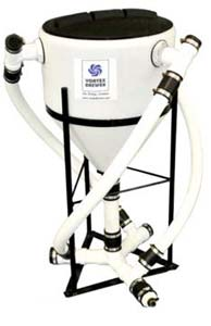 Vortex Brewer - VB15 Compost Tea System - 15 Gal VB15 Vortex Brewer® 15 gallon tank Completely pre-plumbed and assembled 100-watt air pump 6′ premium applicator hose Weight 70 lbs. Dimensions: W: 26″ x L: 26″ x H: 43″ Includes: 8 oz. cup Earth Compound = microbeinoculant * 8 oz. Earth Tonic = mineral catalyst * 8 oz. Earth Kelp = microbe food * 32 oz. Earth Syrup = microbe food * 1 oz. Storch Oil = defoamer * Enough for 4 brews NOTE: We do not recommend air diffusers. The Vortex Brewer® will revolutionize and help diversify your home garden, farm, or business. It is a conversation starter and will be a significant source of revenue and customer retention for any store or nursery. We like to say…it sucks people in! The Vortex Brewer® is Unlike ANY Other Compost Tea Brewing System Making compost tea is not a new concept. Many remember their grandparents loading up a sock full of compost or bat guano to let steep in a bucket for a day on the farm, or used the liquid remnants of a worm or compost bin on their houseplants. This concept has been enhanced by way of  actively aerated compost tea  (AACT) in order to multiply and encourage air-loving beneficial organisms. However, the innovations basically stop there. The basic concept of creating an aerobic living solution has been gussied up and made to look pretty from the outside, with expensive molds and fancy marketing; but inside they all do the same thing – simply apply air to a stagnant solution, or, merely  extract  existing biology from a humus source. They agitate, they don't circulate. The Vortex Brewer® separates itself from other methods of biological activation, by using air to create vortexial circulation. Rather than passively disturbing the solution, the Vortex Brewer® actively blends and circulates the mixture. Vortex Brewer® can be used as an extractor, for mixing organic or hydroponic nutrient solutions, stirring BioEnergetic creations, or to create living water. Many farmers use the Vortex Brewer® as a 