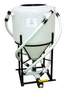 Vortex Brewer - VB85 Compost Tea System - 85 Gal VB85 Vortex Brewer® 85 gallon tank Completely pre-plumbed and assembled 100-watt air pump 6′ premium applicator hose Weight 150 lbs. Dimensions: W: 45″ x L: 45″ x H: 57″ Includes: 32 oz. cup Earth Compound = microbeinoculant * 32 oz. Earth Tonic = mineral catalyst * 64 oz. Earth Kelp = microbe food * 96 oz. Earth Syrup = microbe food * 1 oz. Storch Oil = defoamer * Enough for 2 brews NOTE: We do not recommend air diffusers. The Vortex Brewer® will revolutionize and help diversify your home garden, farm, or business. It is a conversation starter and will be a significant source of revenue and customer retention for any store or nursery. We like to say…it sucks people in! The Vortex Brewer® is Unlike ANY Other Compost Tea Brewing System Making compost tea is not a new concept. Many remember their grandparents loading up a sock full of compost or bat guano to let steep in a bucket for a day on the farm, or used the liquid remnants of a worm or compost bin on their houseplants. This concept has been enhanced by way of  actively aerated compost tea  (AACT) in order to multiply and encourage air-loving beneficial organisms. However, the innovations basically stop there. The basic concept of creating an aerobic living solution has been gussied up and made to look pretty from the outside, with expensive molds and fancy marketing; but inside they all do the same thing – simply apply air to a stagnant solution, or, merely  extract  existing biology from a humus source. They agitate, they don't circulate. The Vortex Brewer® separates itself from other methods of biological activation, by using air to create vortexial circulation. Rather than passively disturbing the solution, the Vortex Brewer® actively blends and circulates the mixture. Vortex Brewer® can be used as an extractor, for mixing organic or hydroponic nutrient solutions, stirring BioEnergetic creations, or to create living water. Many farmers use the Vortex Brewer® as a batch extractor by spinnin