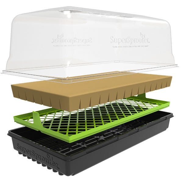 AirMax™ Tray Insert (#HGC726742) shown with Super Sprouter® Dome Kit (sold sep.)